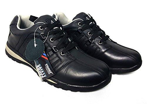 EUR inoxidable Gris zapatos talla deporte tobillo Starex Negro Gorra con para zapatillas de de de 8 42 acero hombre UK para HIKER pHFqwt