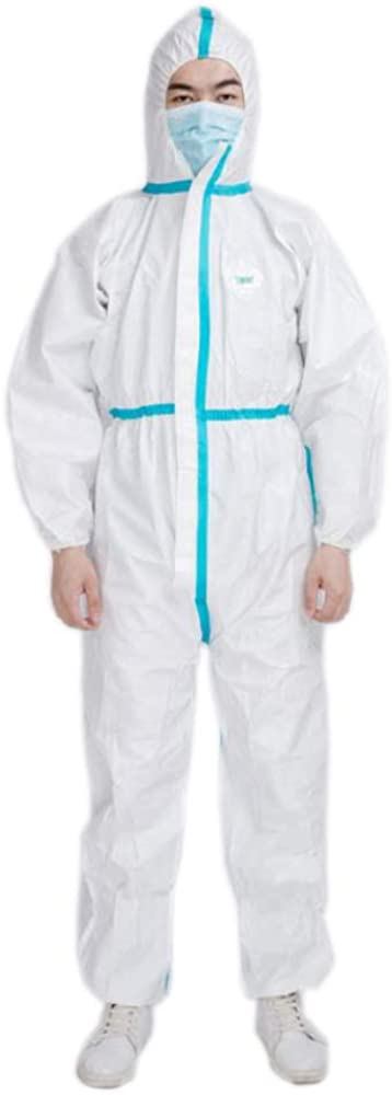 Auger Disposable Hooded Coverall Full Body Protective Insulation Suit with Zip Front I