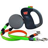 Dual Doggie. Retractable pet leash / lead for two dogs - Flex Line leash - Zero tangling