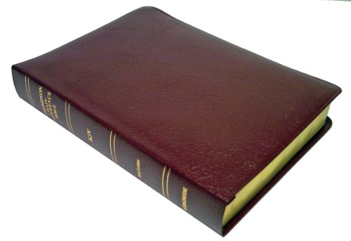 KJV - Burgundy Bonded Leather - Large Print - Thompson Chain Reference Bible (015193)
