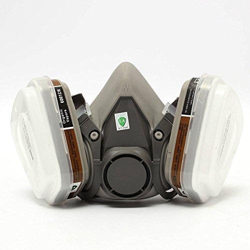 OUTERDO 3M 6200 7Pcs Anzug Gemälde Sprühen Atemschutz Gas Gesichtsmaske Halbmaskenkörper Für Farbspritz Und Maschinenschleifarbeiten