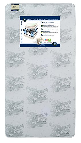 Serta Nightstar Deluxe Rest Innerspring/Memory Foam Crib and Toddler Mattress | Waterproof | GREENGUARD Certified (Natural/Non-Toxic)