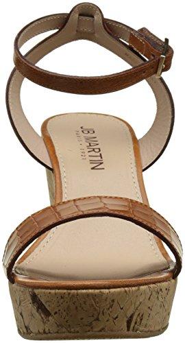 Jb Martin 2ola E17, Sandalias con Plataforma para Mujer Marron (V Chian/V Croc Brandy/T Li Met Bronze)