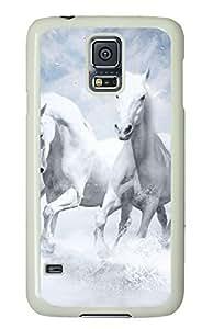 White Horses White Hard Case Cover Skin For Samsung Galaxy S5 I9600