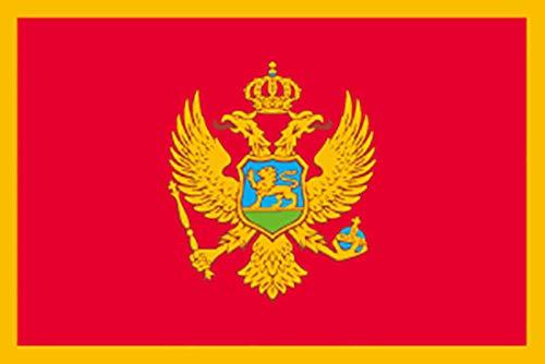国旗 モンテネグロ No.2 No.23536(取寄商品)   B01J1NQQ54