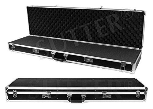 Aluminium Waffenkoffer 120x37x14 cm - ALU Gewehrkoffer - Jetzt optimal & preiswert für die Reisezeit - Gewehrtasche Waffenfutteral