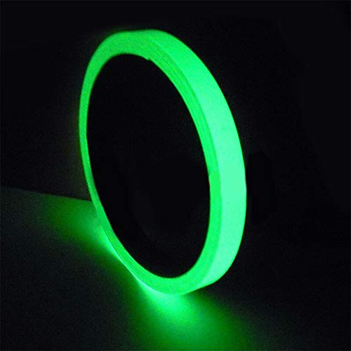 Professional 10m Roll Luminous Tape Self Adhesive Glow in The Dark Safety Stage Self Adhesive Glow in The Dark Stickers Decorative Adhesive Tape Phosphorescent Luminous Tape