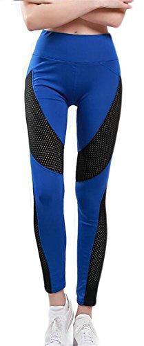 Royal Blue Leather Pants - 6