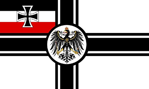German ww1 imperial with crest Flag 5ft x 3ft Large - 100% Polyester - Metal Eyelets - Double Stitched
