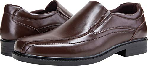 Pictures of JOUSEN Men's Loafers Leather Formal Square 3
