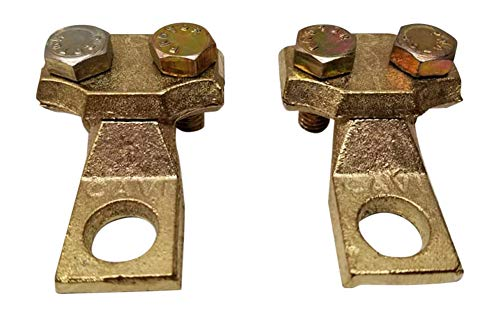 Ter-Mex TM24-2X Fleet Commercial Heavy Duty Truck Battery 1/2 Eye Terminals Cable Ends Solid Brass (Pack of 2)