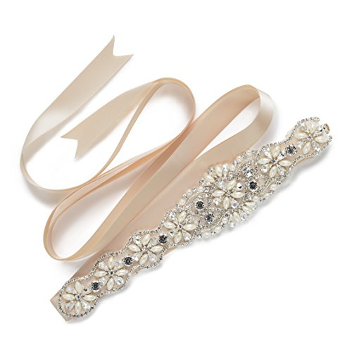 SWEETV Wedding Applique Rhinestone Bridesmaid
