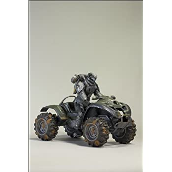 Halo Reach McFarlane Toys Deluxe Vehicle with Action Figure Boxed Set Exodus Battle Damaged Mongoose with ODST Jetpack Trooper