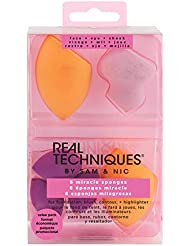 Real Techniques 6 Miracle Complexion Sponges Make Up Brush Set, with Revolutionary Foam Technology, Use Damp or Dry for a Smooth, Finished Look, Synthetic Materials