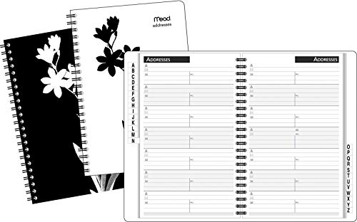 (MeadWestvaco TL420210 Floral Silhouette Address Book)