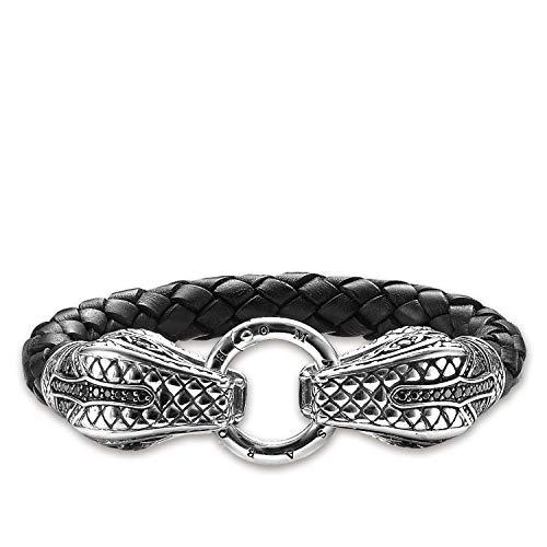 Thomas Sabo LB47-019-11-M Bracelet Silver Black Silver Unisex – Men and Women – Size (19CM)