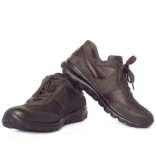 Gabor Rolling Soft Helen Women's Wider Fit Sneaker Shoes in Anthracite Anthracite mWQkdBj4G