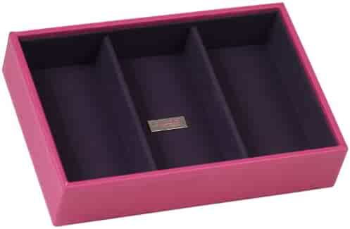 WOLF 317797 Stackables Series Small Deep Tray, Fuchsia
