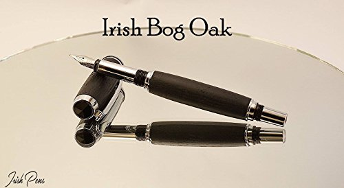 Irish bog oak Forest fountain pen handmade in Cavan Ireland, 5000 years in the making by Irish Pens