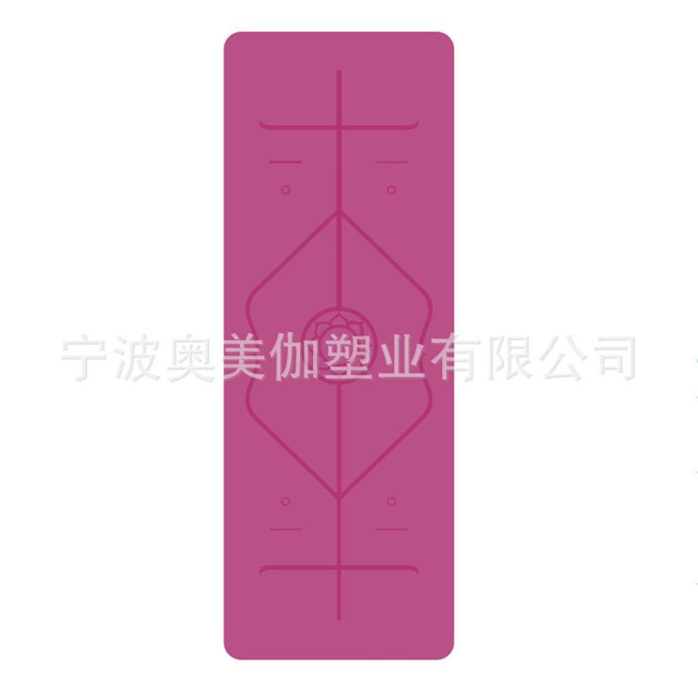 JUN Yogamatte Fitness-Gummi-Sport-Yoga-Matte (183  66  0,5 cm)