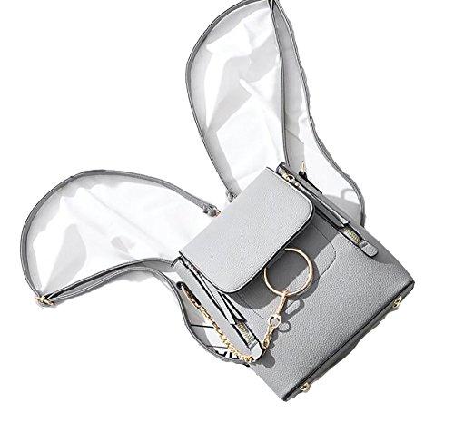 PU molle borsa 22 di modo delle casuale donne zaino  multifunzionale borsa di La cuoio TwxvnAP7qR