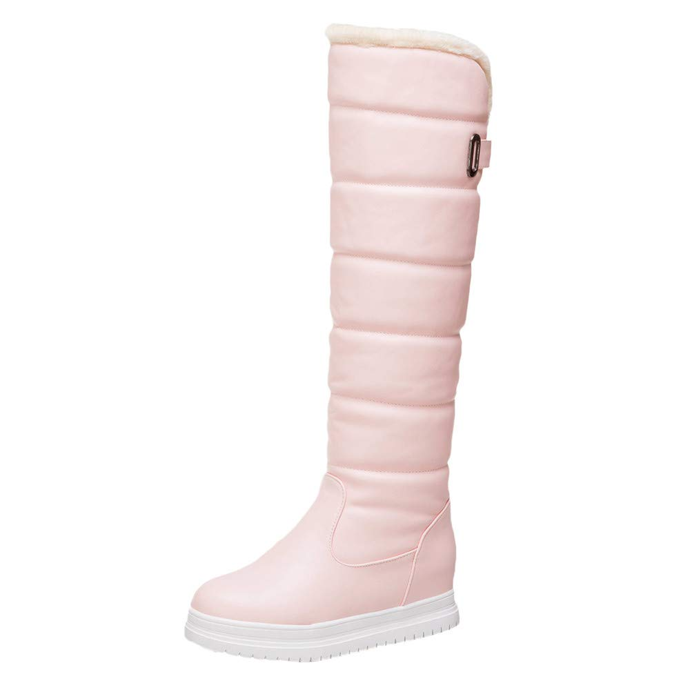 Winter Women's Warm Knee High Down Snow Boots Waterproof Thick-Soled Flat Heels Thigh High Cotton Boots 5.5-9.5 Aritone women boots