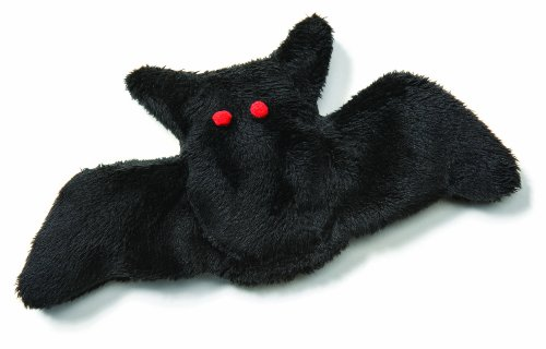 Image West Paw Design Kitty Bat Halloween Catnip-Filled Cat Toy with Bell, Black