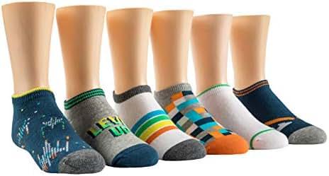 Stride Rite Boys' 6-Pack No Show Socks