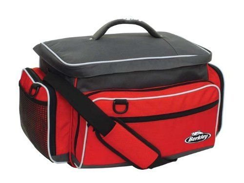 Berkley Red Fishing Tackle Bag W/ 4 Medium Utility Boxes XPA012