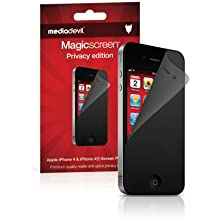 Apple iPhone 4 / 4S Privacy Screen Protector, MediaDevil Magicscreen Privacy Security Filter Edition - (1 x Protector)