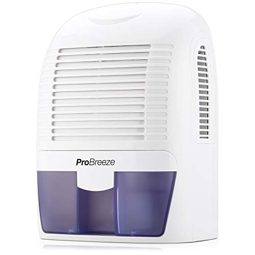 Pro Breeze Electric Mini Dehumidifier, 2200 Cubic Feet (250 sq ft), Compact and Portable for High Humidity in Home, Kitchen, Bedroom, Basement, Caravan, Office, Garage