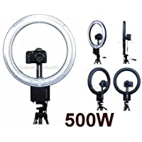 Ardinbir Photography 500W 5400K Macro Ring Light Lamp for Canon, Nikon, Panasonic, Sony, Leica, Olympus SLR/DSLR Cameras, Photo Studio and Portrait
