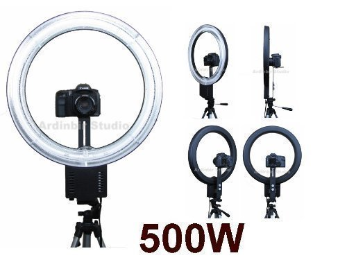 Ardinbir Photography 500W 5400K Macro Ring Light Lamp for Canon, Nikon, Panasonic, Sony, Leica, Olympus SLR/DSLR Cameras, Photo Studio and Portrait by Ardinbir
