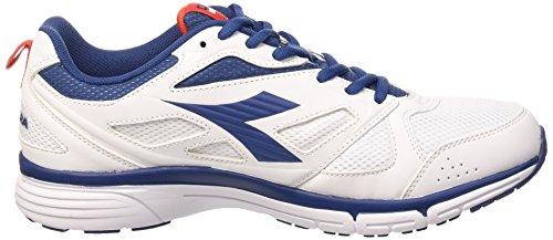 Diadora Jazzy 4 - Zapatillas de running de Material Sintético para hombre Bianco/Blu