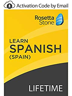 Rosetta Stone: Learn Spanish (Spain) with Lifetime Access on iOS, Android, PC, and Mac [Activation Code by Email] (B07GJP2Q7F)   Amazon price tracker / tracking, Amazon price history charts, Amazon price watches, Amazon price drop alerts