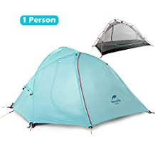 Azurec 1-2-3 Person 4 Season Lightweight Waterproof Double Layer Backpacking Tent for Camping Hiking