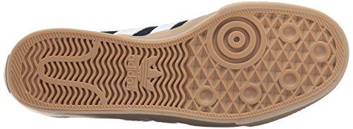 Adidas Adi-facilidad de zapatos del patín, Negro / negro / color escarlata, 4 M con nosotros Collegiate Navy/White/Gum