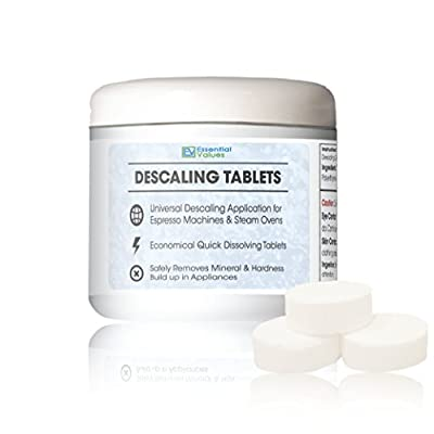 Descaling Tablets For Jura, Miele, Bosch, Tassimo Espresso Machines and Miele Steam Ovens by Essential Values