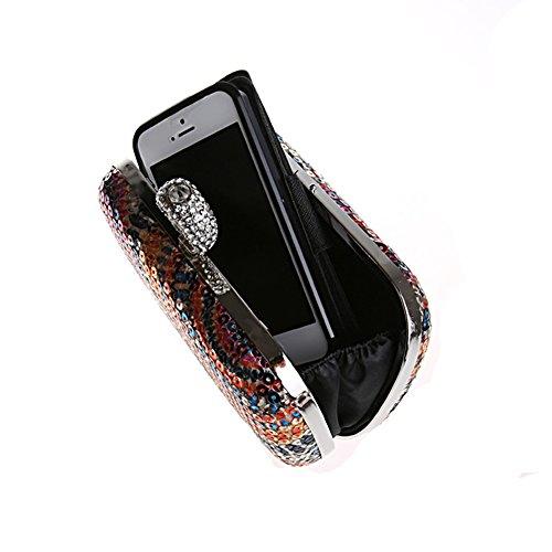 C Fashion Shoulder KING Colorful Handbag Clutch Ring Sequins MIMI Rhinestone Crossbody Dinner Bag Casual 6YxOxBqv