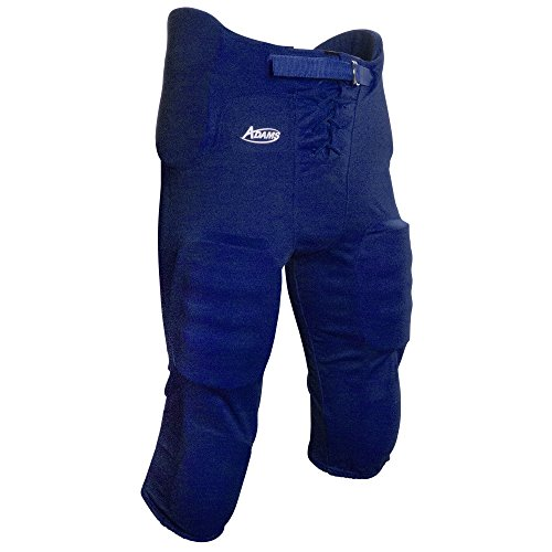 Adams USA Youth Practice Football Pant with 7Piece Integrated Pads Royal Blue, Medium