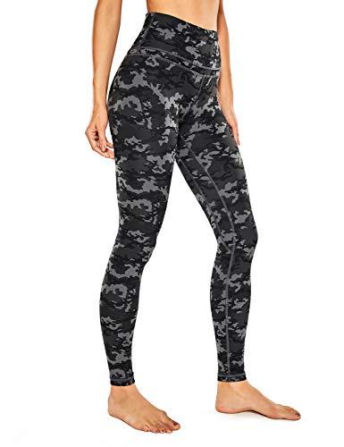 CRZ YOGA dames nek gevoel hoge taille joggen yoga leggings met tas -71cm