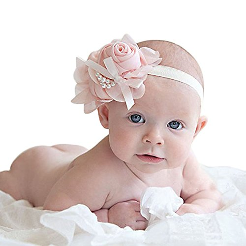 Tonsee 1PC Lovely Rhinestone Unusual Angel Girls Baby Pearl Flowers Hairband