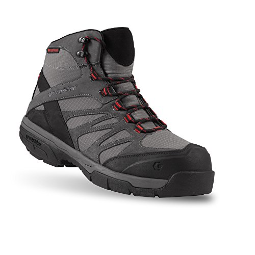 Gravity Defyer Kennedy Men's Gray Boots 10.5 M Best Work Boots For Plantar Fasciitis Shoes For Heel Pain (Gravity Rig)