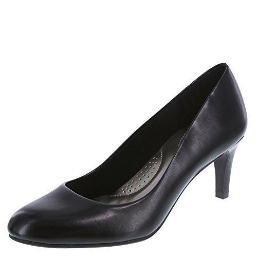 dexflex Comfort Women's Smooth Black Women's Karma Round-Toe Pump 7 (Foam Heel)