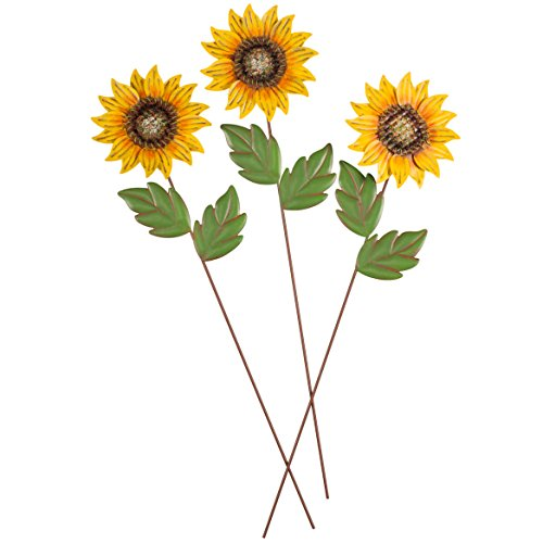 (Miles Kimball Sunflower Stakes, Set of 3 Maple Lane)