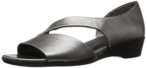 LifeStride Women's Magda Dress Sandal, Taupe, 11 M US Pewter