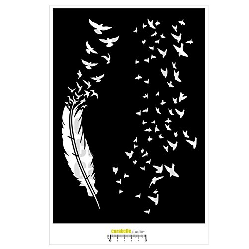 Carabelle Studio Feathers & Clouds of The Birds Template A4 ()