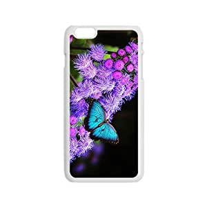 Purple Butterfly Hight Quality Plastic Case for Iphone 6