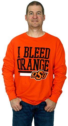 Oklahoma State University Cowboys Men's Long Sleeve T-Shirt (Orange, - Sun Coupon Sports Ski And