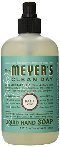 Чистый день Жидкое мыло для рук миссис Майер, базилик, 12,5 жидкую унцию (в упаковке 3)